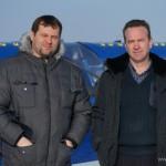 Первушино. Сергей Минигулов с гостем