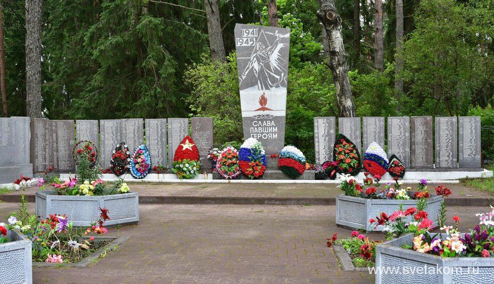 Братская могила воинов Великой Отечественной войны  в поселке Плюсса