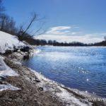 Весна, ледоход на реке 1