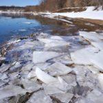 Весна, ледоход на реке 4
