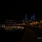 Ночной Баку. Набережная
